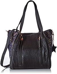 Lollipops femme Alix Glitter Bucket Shopper Sac porte epaule Noir (Black)