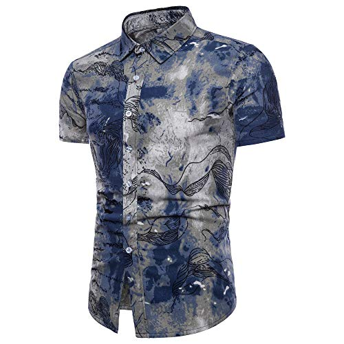 feiXIANG Homme Chemise Hawaienne...
