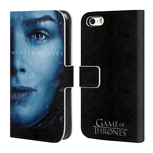 Offizielle HBO Game Of Thrones Daenerys Targaryen Winter Is Here Brieftasche Handyhülle aus Leder für Apple iPhone 7 Plus Cersei Lannister