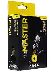 STIGA Master 1 - Pack pelotas de ping pong, color blanco (6 unidades)