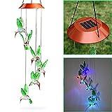 Hunpta colibrì LED cambia colore solare a vento vento per giardinaggio illuminazione