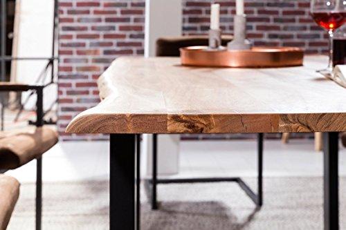 SAM® Stilvoller Esszimmertisch Quentin 140x80 cm aus Akazie-Holz, Tisch mit schwarz lackierten Beinen, Baum-Tisch mit naturbelassener Optik - 4