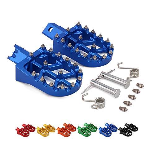 Fußrasten Fußrasten Pedale Universal CNC Bunte Für HONDA CRF XR 50 70 110 M2R SDG DHZ SSR KAYO Pit Bike Motorrad,Blau