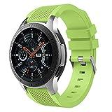 MuSheng For Samsung Galaxy Watch 46MM Armband Band,Fashion Fitness Weicher Silikon Ersatz Band Bügel Armband für Samsung Galaxy Watch 46MM (Armeegrün)