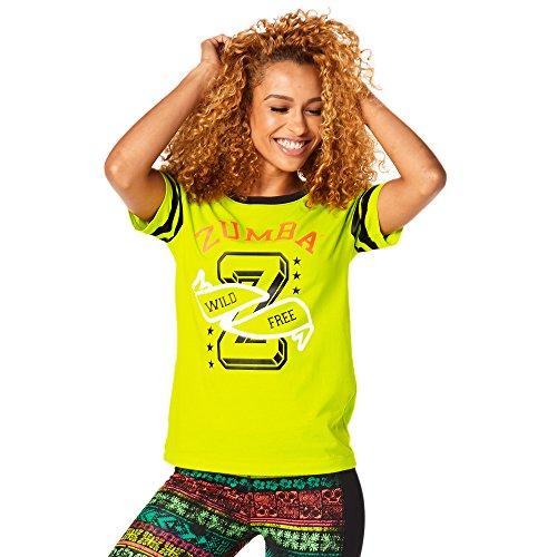 Dance Team-t-shirts (Zumba Fitness Damen Team Zumba Burnout Tee Frauentops, Zumba Green, M)