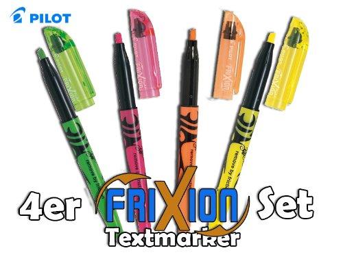 Pilot 'FriXion' RADIERBARER TEXTMARKER ultimatives 4er Set in verschiedenen Farben | 'remove by...