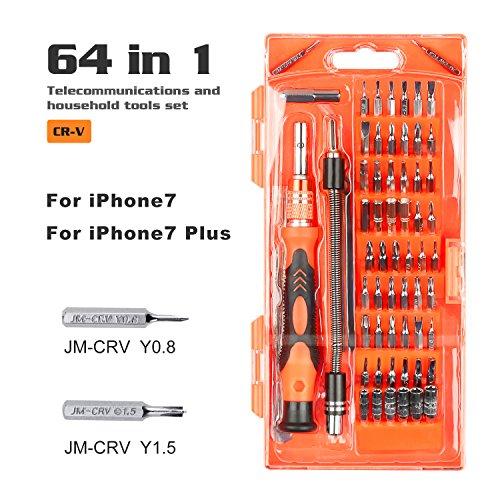 Preisvergleich Produktbild Präzisions-Schraubendreher-Set & #-; 64in 1Magnetic Treiber Kit mit 56Bit Magnet Driver Kit für Handy, Tablet, PC, MacBook, Elektronik Reparatur Tool Kit