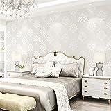 FAHOME Tapete Jane europäischen Seide Emaille Vliestuch europäischen Stil Wand Tuch Wohnzimmer Schlafzimmer Hotel Villa Hotel europäischen Bestickte Wandverkleidung, B