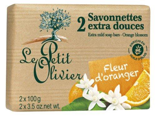 Le Petit Olivier Seife mit Orangenblüten und Olivenöl 2 x 100 Gramm aus Frankreich - Frankreich Seifen Seife