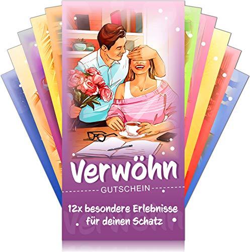 Verwöhngutscheine von VULAVA + Gratis Online-Handbuch mit 100 Verwöhnideen – die einzigartigen Liebesgutscheine mit 12 romantischen Erlebnissen sind das perfekte Geschenk für Sie und Ihn