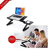 FACILCASA Supporto PC Portatile Pieghevole Tavolo per PC, Tavolino per Laptop | 2 FUNZIONI a Letto - Divano - Tavolo| Supporto PC Regolabile e Pieghevole