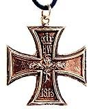 Eisernes Kreuz 1813/1914 Anhänger aus Bronze mit Baumwollband
