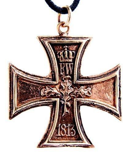 Kiss of Leather Eisernes Kreuz 1813/1914 Anhänger aus Bronze mit Baumwollband