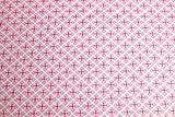 Qualitativ hochwertiger French Terry, Sommersweat Stoff mit geometrischer Musterung Pink (Farbe 3) als Meterware zum Nähen von Erwachsenen-, Kinder- und Baby Kleidung, 50 cm