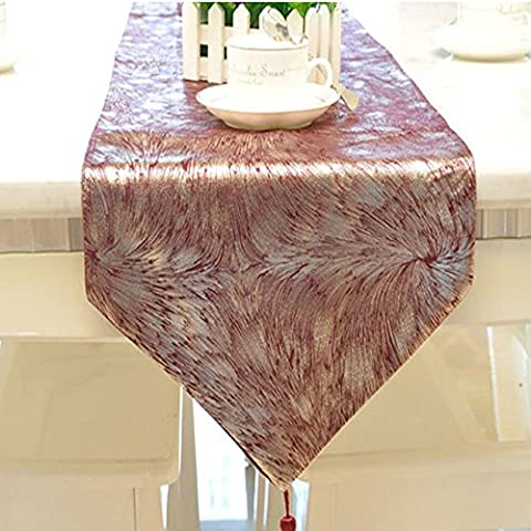Emmet Luxury Gilding Table Runner for Daily Home Decorations, Weddings and Parties No Wrinkles with Classical Embroidery, Include Premium Modern Golden Silk Tassels 100% Guarantee (13
