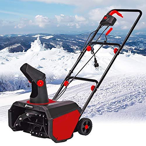 Viron Elektro Schneefräse 1600 Watt Schneeschieber Motorbesen Elektrisch 1,6 KW Schneepflug Kehrmaschine
