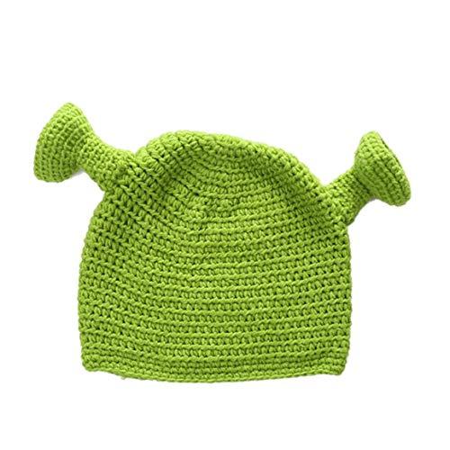 Unisex Shrek Hand Strickmütze Wolle Winter Strickmütze Cosplay Dome-Kappe Für Frauen-Mann-Kostüm (Shrek Kostüm Accessoires)
