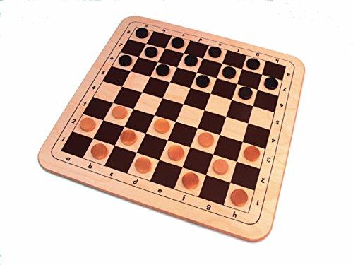 Mühle & Dame als Holzbrettspiel im XXL Format von 48 x 48 cm (Z173)