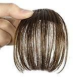 Smilco Mini-Pony zum Anklippen, Ultradünnes Haar, fransig, erhältlich in 4Farben