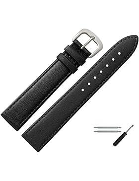 Uhrenarmband 18mm Leder schwarz,