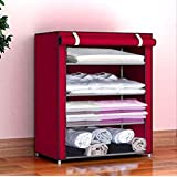 Keekos® Fancy and Portable Foldable Collapsible Closet/Cabinet Collapsible Wardrobe Organizer, Multipurpose Storage Rack…