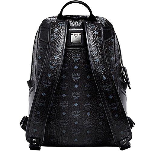 100% Authentic MCM Duke VISETOS Medium Backpack leather Black MMK5SDK04BK with Dust Bag