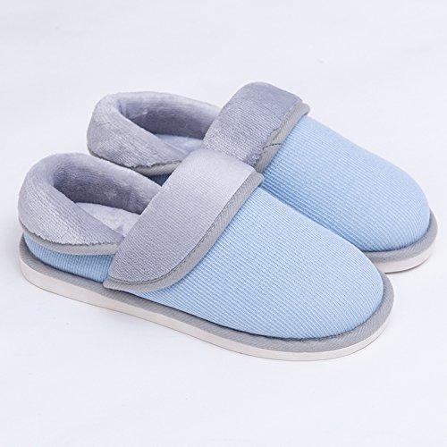 Inverno fankou cotone pantofole ladies home indoor e outdoor giovane pavimento in legno home pacchetto con fondo spesso non - slip scarpe Schwarz