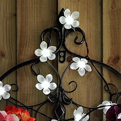 Luci solari Fairy Blossom Bianco 50Led 5M telescopici a forma di bandiera giardino uso