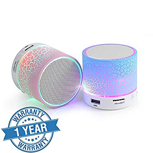 Drumstone Wireless LED Bluetooth Speakers S10 Handfree with Calling Functions & FM Radio Works with all Android or Iphone Devices (1 Year Warranty, Color May Vary)  available at amazon for Rs.249
