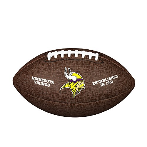 WILSON NFL Team Logo Composite Fußball, Minnesota Vikings, Official (Minnesota Viking Fußball)