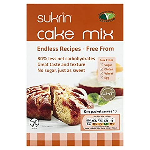 Sukrin Sugar and Gluten-Free Free-From Cake Mix; Low Calorie, Low