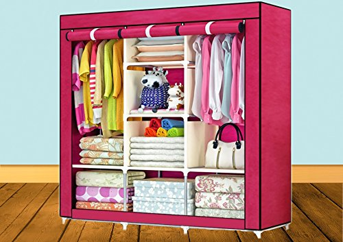 Berry Collection Fancy High-Quality- Model: 88130- Fashion-Cloth-Wardrobe-with-3-Door Shoe Rack Multipurpose  available at amazon for Rs.2799