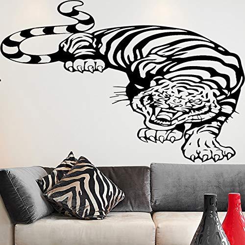 BailongXiao Adesivi murali Tigre Adesivi murali in PVC Decorazioni per la casa Soggiorno Camera da Letto Wall Art Carta da Parati 54x68cm