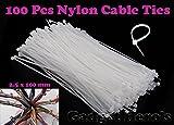 Gadget Hero's Nylon Cable Ties. 2.5 x 10...