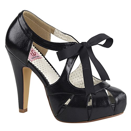 Pin Up Couture BETTIE-19 Damen Retro Pumps Blk Faux Leather
