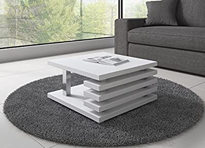 Coffee Table Oslo 60 x 60 cm (White Matt)