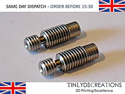 2x E3D v6 all metal REMOTE throat extruder 1.75mm reprap prusa 3D printer part from tinlydscreations
