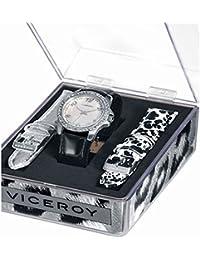 Viceroy 432180-05 - Reloj con correa de piel para mujer, color nácar / gris
