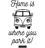 CLICKANDPRINT Aufkleber » Home is where you park it, 40x24,9cm, Schwarz • Dekoaufkleber / Autoaufkleber / Sticker / Decal / Vinyl