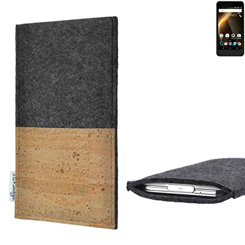 flat.design vegane Handy Hülle Evora für Allview P6 Energy Mini Kartenfach Kork Schutz Tasche handgemacht fair vegan