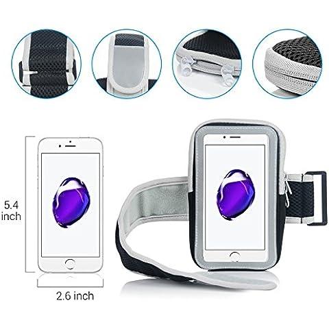VertTek Sports Armband per Smartphone Sportiva da Braccio Sweatproof Bracciale per Corsa & Esercizi con Supporto Chiave e Riflettente Bag Case - Bracciale con Slot portachiavi, Prova di sudore - Compatibile con cellulari Under 6 Pollici