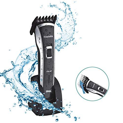 DSP - Máquina eléctrica de corte de pelo para hombres, niños, barba cortadora de pelo, impermeable, lavable, eléctrica, recargable