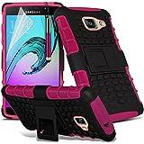 Gadget Giant® Rose/Pink - Samsung Galaxy A5 2016 (A510) Étui carapace antichoc résistant double épaisseur de très bonne qualité avec protection d'écran et stylet (Antichoc - Couverture - Rigide - Carapace - Robuste)