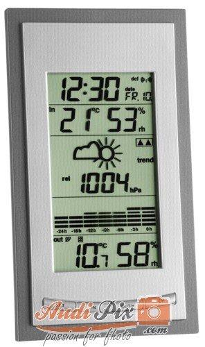 TFA Dostmann Diva Plus Funk-Wetterstation, Raumklimakontrolle, Wettervorhersage, grafische Anzeige, Außentemperatur/Luftfeuchtigkeit, inklusive Thermo-Hygrosender Grafische Anzeige