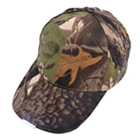 Eastever 5 LED Light Glowing Baseball Caps, Women Men Luminous Hip Hop Sport Hat for Outdoor Fishing Camping Hiking Walking Jogging - Camouflage