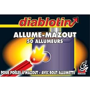 Allume mazout avec bout allumette Diablotin - Vendu par 50