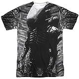 Thierry Mugler Alien Creature Feature (Avant arrière) d'impression par Sublimation Mens Shirt White LG