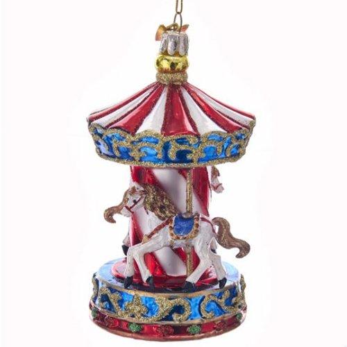 Kurt Adler 11,4cm Noble Gems Glas Karussell, Ornament -