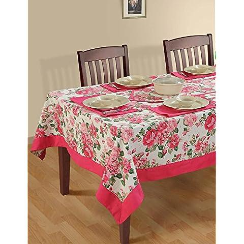 multicolori variopinte cotone floreale di primavera Tovaglie Tabelle 60 x 102 pollici, Dusty Rose Border