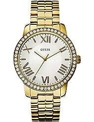 Guess Damen-Armbanduhr Analog Quarz Edelstahl W0329L2